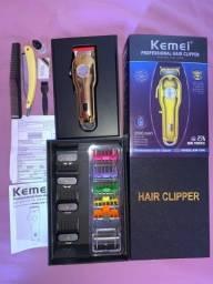 Máquina de cortar cabelo sem fio profissional