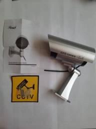 Título do anúncio: Câmera Falsa C/ Led Para Segurança Bivolt Com Manual - Nova