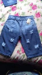 Venda de atacado e varejo de  Bermudas jeans masculinas