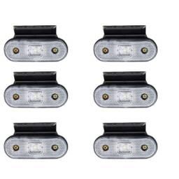 Título do anúncio: 6 Lanterna Lateral Facchini Cristal Caminhão Carreta Bau