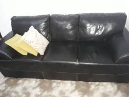 Título do anúncio: Sofa de 02 e 03 lugares courino preto