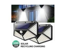 Título do anúncio: Luminaria Solar Parede 100 Leds 7w Com Sensor Movimento_ C283
