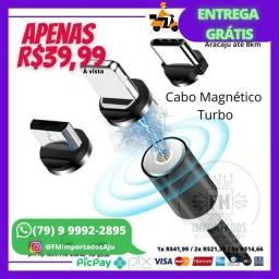 Título do anúncio: Cabo celular magnético 3 em 1 Android / Iphone / Tipo C. ENTREGA GRÁTIS AJU