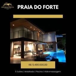 Casa 6 Suítes Praia do Forte Mobiliada