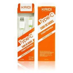 Cabo de Dados USB Carregamento Rápido 1m Type-C Kaidi KD-TC30 (Entrega grátis)