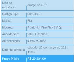 Punto 1.4 - 2008 - 18.500,00