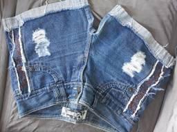 Shorts Jeans. Semi novos