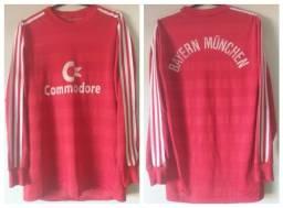 Título do anúncio: Camisa Bayern de Munique 1984-1985-1986 Adidas - Commodore - Manga Longa - Original