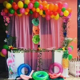 Decoração Pool Party Flamingo