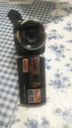 Filmadora com projetor
