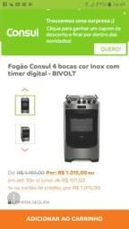 V / T Fogão Cônsul Timer Digital Inox