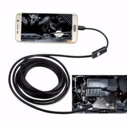 Camera Inspeção Sonda Endoscópica Android Otg Pc 5 Mts