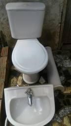 Kit pia e vaso acoplado para banheiro, usados