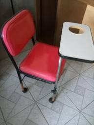 Cadeira manicure c/ 1 gaveta