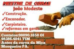 Pedreiro/Mestre de obras em Mosqueiro PA(Leia o anuncio completo)