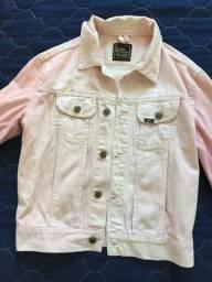 Jaqueta jeans rosa