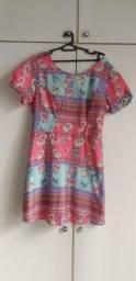 Vestido Floral Romântico - Tam.46