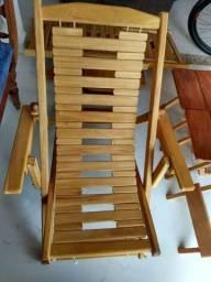 Cadeira madeira 3 regulagens