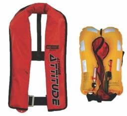 Colete salva-vidas auto-inflável acionamento manual Attitude ? Vermelho
