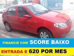 Fiat Palio Financie com score baixo 4 portas Flex entrada de 5000 e 48 de 620
