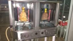 Maquina de espeto eletrônica á gás shawarma