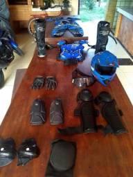 Kit conjunto equipamento motocross trilha troco por bike