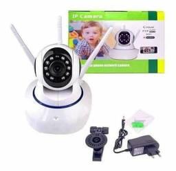 Câmera Robô 2 Antenas Ip Wi-fi 360º 720p Sistema V380