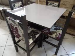 Mesa de vidro com 4 cadeiras NOVO