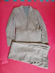 Vendo 01- Paletó + calça semi-novo 2 paletó preto tamanho ,12