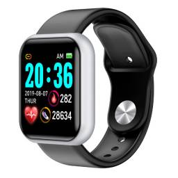Smartwatch IWO8 preto na caixa