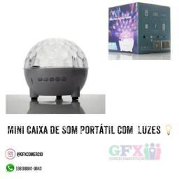 Mini caixa de som com luzes - produto top
