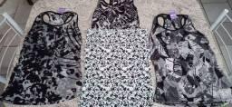 4 blusas femininas tamanho G para revenda