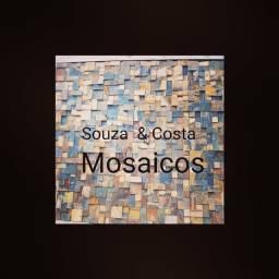 Mosaicos de pedras decorativas para revestimento interno
