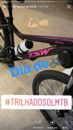 Bicicleta Tsw, quadro 16, Preto Fosco com Rosa