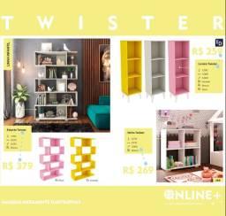 Estante Twister com 5 nichos