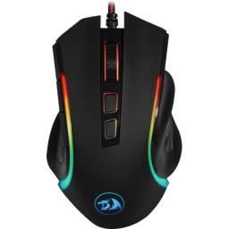 Título do anúncio: Noobi - Mouse Gamer Redragon Griffin RGB 7200DPI Preto - M607
