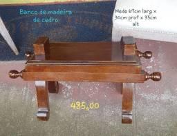 Título do anúncio: Banco de madeira de cedro