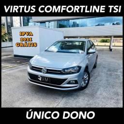 Vw Virtus Comfortline Tsi 1.0 Flex Automático - 2020 - Único Dono