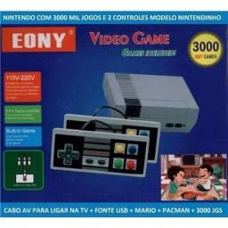 Título do anúncio: Vídeo Game Retro 3000 Jogos Nintendinho Classico Decada de 80