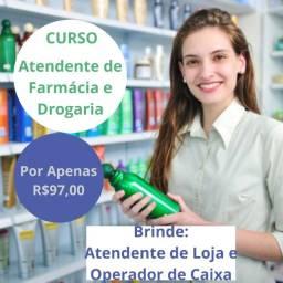 Título do anúncio: Curso de Atendente de Farmácia + Bônus