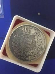 Móeda De 2000 Réis De 1870 (petrus Ii D.g.c.imp.)