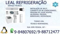 Conserto De Máquina de Lavar, Geladeira, Ar Condicionado- Leal Refrigeração