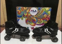 Patins Quad Fila Skates Verve Black, preto e branco.