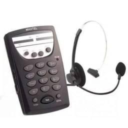 Título do anúncio: Telefone Headset Maxtel Mt-108 Atendimento Em Telemarketing