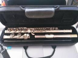 Flauta transversal Eagle prateada