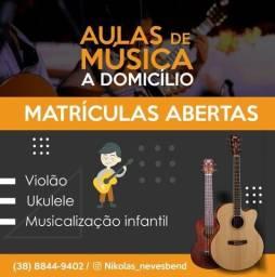Aulas de violão e ukulele a domicílio
