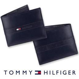 Título do anúncio: Carteira Tommy Hilfiger Masculina Original em Couro com Porta Cartão e Caixa