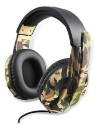 Título do anúncio: Fone Headset Camuflado Com Microfone Gamer Gaming para Jogos Altomex AL-210