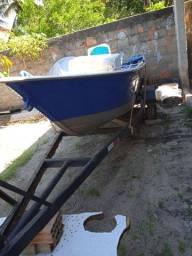 Troco Barco De Alumínio Com Carrocinha Por Moto Do Meu Interesse