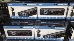 Título do anúncio: Som Automotivo Knup Com 2 Usb, 2 Rca, Bluetooth E Leitor Ssd